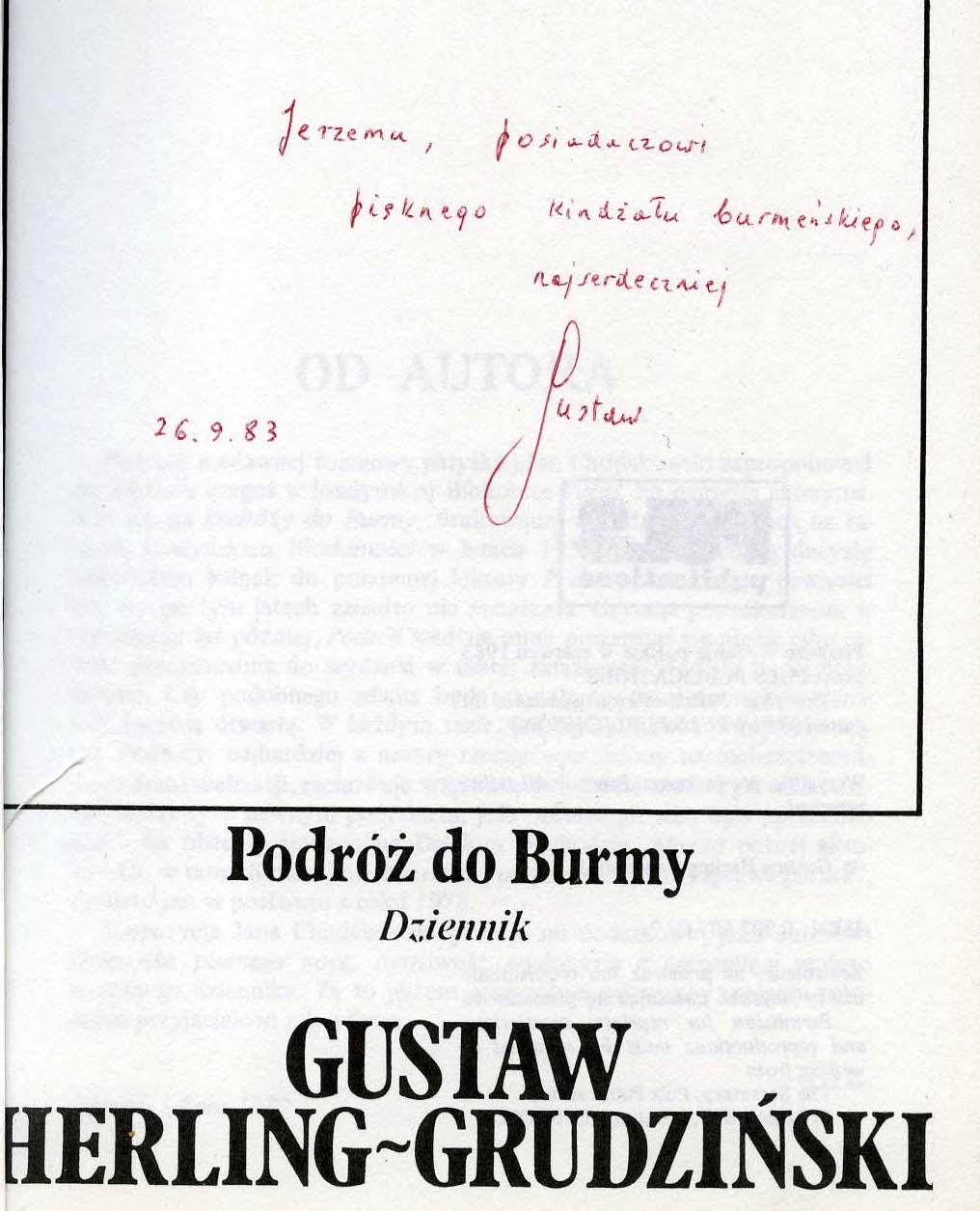 """<div class='inner-box'><div class='close-desc'></div><span class='opis'>Dedykacja Gustawa Herlinga-Grudzińskiego dla Jerzego Giedroycia. """"Podróź do Burmy. Dziennik podróży"""", 1983.</span><div class='clearfix'></div><span>Cote du document dedyk015b</span><div class='clearfix'></div><span>© Instytut Literacki</span></div>"""