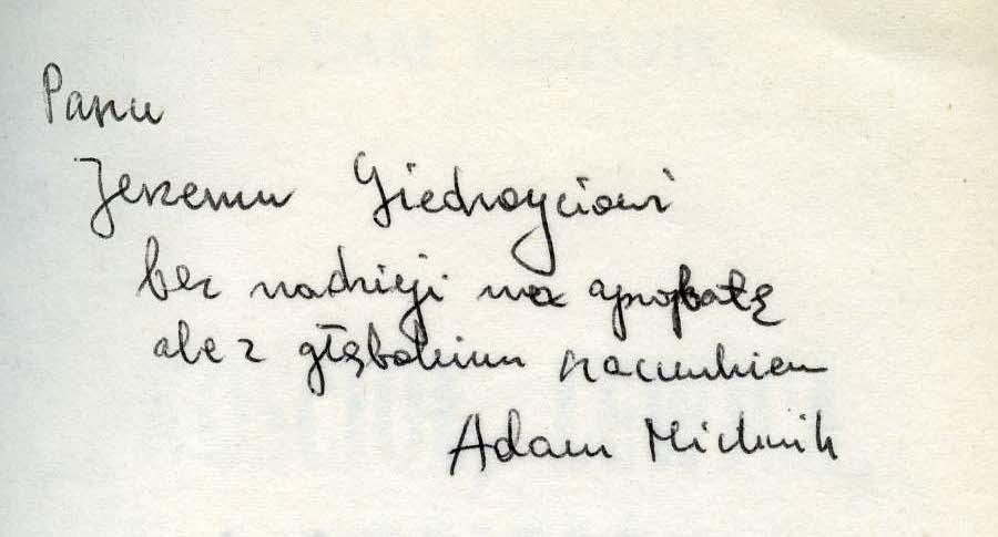 "<div class='inner-box'><div class='close-desc'></div><span class='opis'>Dedykacja Adama Michnika dla Jerzego Giedroycia. ""Kościół, lewica, dialog"", IL, Paryż 1977.</span><div class='clearfix'></div><span>Sygn. dedyk011b</span><div class='clearfix'></div><span>© Instytut Literacki</span></div>"